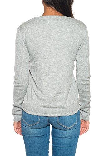 Cashmere W's Silk Woolrich Donna Maglia Crew Mod Melange Grey Wwmag1665 Sj10 1HP64w6q