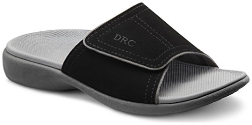 Dr. Comfort Kelly Women US 8 Black Slides Sandal