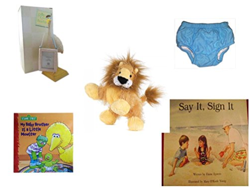 Children's Gift Bundle - Ages 0-2 [5 Piece] Includes: Russ Baby Expressions Of Love 8'' Delivery Stork Newborn 1.75x2.5 Picture Frame, Circo Infant Reusable Swim Diaper Blue Size XL 24 Months 25-30 l by Secure-Order-Marketplace Gift Bundles