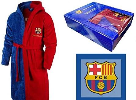 T&R Albornoz Algodón Oficial FC Barcelona Talla L: Amazon.es: Hogar