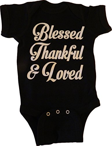Custom Kingdom Baby Boys/Girls Blessed Thankful and Loved Th