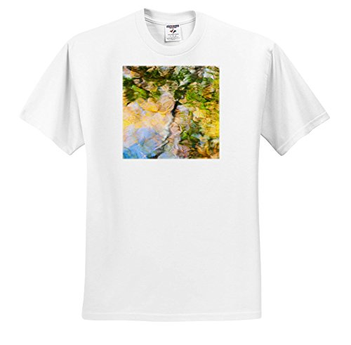 Danita Delimont - Abstracts - Fall Colors Reflect In The Rippled Waters Of a Pond - T-Shirts - White Infant Lap-Shoulder Tee (6M) (Abstract Pond)