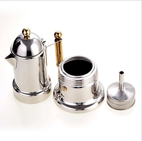 4 Cups/200ml Stainless Steel Italian Express Stovetop Espresso Coffee Moka Pot Expresso Coffee Latte Maker