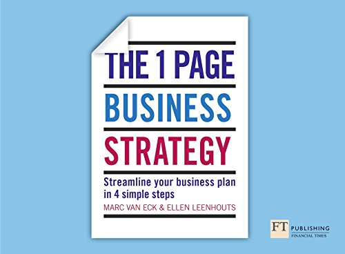 Price comparison product image One Page Business Strategy: Streamline Your Business Plan in Four Simple Steps
