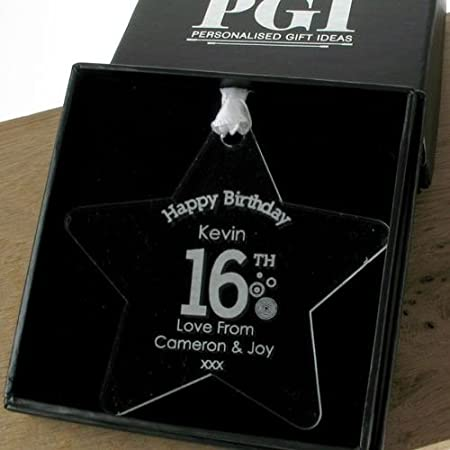 Boys 16th Birthday Gift Personalised Decoration16th