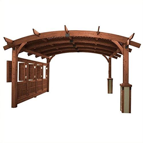 Outdoor GreatRoom Company Sonoma Mocha Arched Wood 16' x 16' Pergola 16'