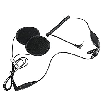 Motorcycle Helmet Intercom Headset Interphone Headphone Speaker Mic for Kenwood