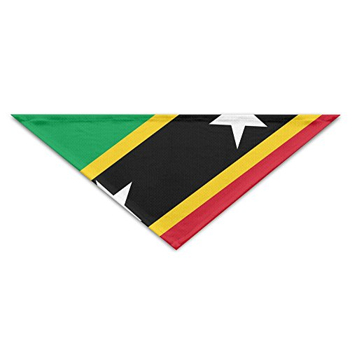 Flag Of Saint Kitts And Nevis Bandana Triangle Neckerchief Bibs Scarfs Accessories For Pet Cats And Baby Puppies The Saliva Dog Towel