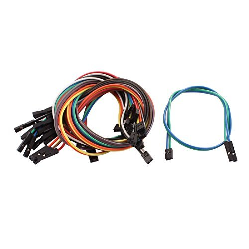 EbuyChX 15pcs 1P 2.54mm sa 2P 2.0mm Babae breadboard Double Head Jumper Wire Cable ()