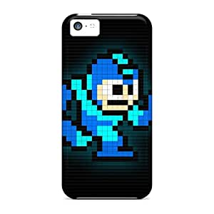 Protective Hard Cell-phone Case For Apple Iphone 5c With Allow Personal Design Nice Megaman Pictures LauraAdamicska