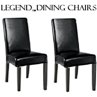 Legends Modern Parsons Dining Chairs - Black