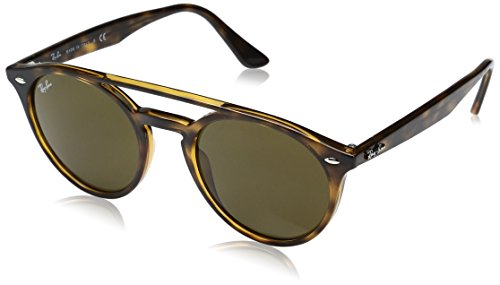 Ray-Ban Injected Unisex Round Sunglasses, Shiny Havana, 51 - Ray Ban Round Aviator