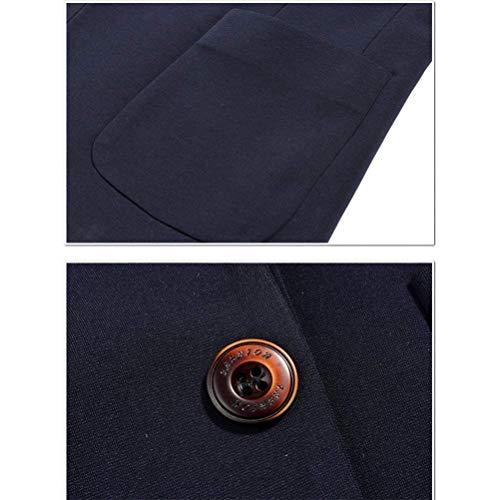 Fit Slim Blazer Homme Vêtements Longues Hommes Veste Bussiness Confortables Mode Un Bouton Manches Tailles À Bleu Fddrqx