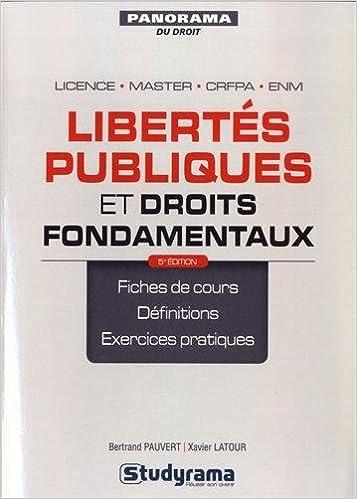 Lire un Libertés Publiques et Droits Fondamentaux 5e Editon pdf epub