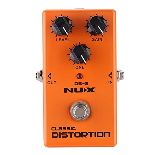 NUX Classic Distortion Electric Guitar Effect Pedal True Bypass with Andoer Box Gift