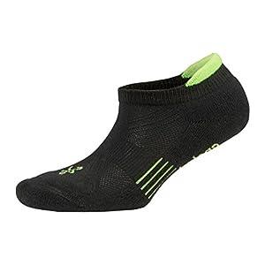 Balega Kids Hidden Cool Socks, Black/Neon Green, X-Large