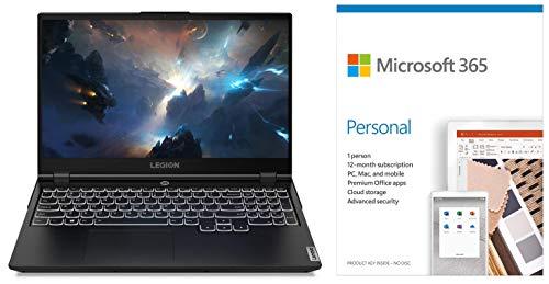 Lenovo Legion 5i 10th Gen Intel Core i5 15.6 inch Gaming Laptop (8GB/1TB HDD+256GB SSD/Win10/NVIDIA GTX 1650Ti 4GB Graphics/Phantom Black/2.3Kg)Microsoft 365 Personal-One Year Subscription Included