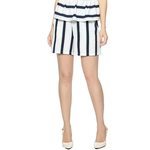 4e670839f1 Nerefy Women Classic Striped Shorts Elastic Waist Ladies Summer Fashion  Streetwear Pockets Casual Shorts 50%