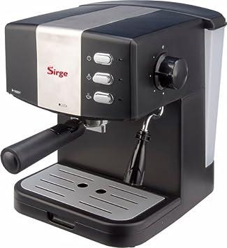 Sirge Granbar Máquina de café expreso y capuchino, manual bomba Italiana 15 Bar 850 W, Supercrema con filtro Cremapiu: Amazon.es: Hogar