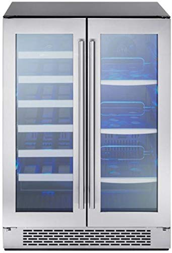 - Zephyr PRWB24C32AG 24 Inch 5.18 cu. ft. Capacity Freestanding or Built In Full Size Beverage Center with Reversible Door, in Stainless Steel