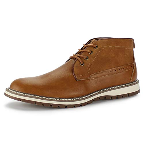 Tobfis Men's Casual Desert Chukka Boot,Brown PU,11 M US