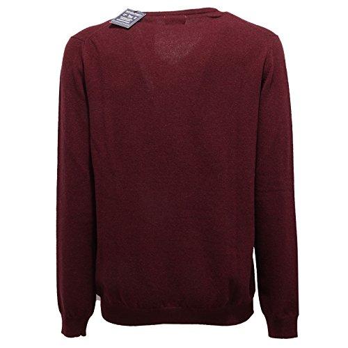 Lana Plum Sweater Men Maglione V 1200v Uomo Woolrich Wool neck Prugna wXztxfRxvq