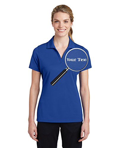 Custom Embroidered Shirts for Ladies - Your Text - Personalized Embroidery Polos