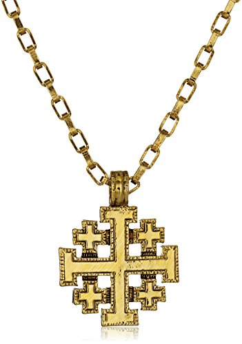 Jerusalem Gold Cross Pendant Jewelry - Symbols of Faith