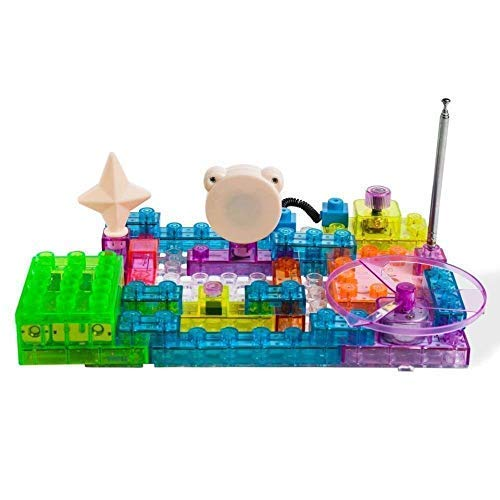 - Dimple Lectrixs Science Electronic Building Circuit Kits Which Lights up & Makes Sound, Innovative Learning Center Toys DIY Kids Friendly Circuit Kit (34 Piece Set with 115 Projects)