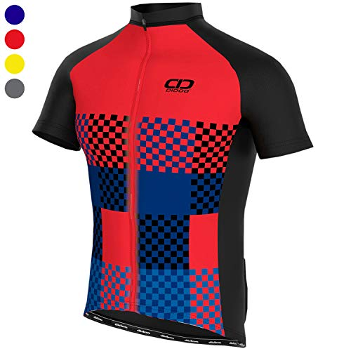 Jersey Running Tights - Didoo Cycling Jersey for Men, Short Sleeve Cycling Top, Half Sleeve Mountain Bike/MTB Shirt, Summer Racing Jersey, Lightweight Breathable Tight Fitting Running Outdoor Sports