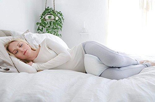 PharMeDoc Memory Foam Knee Pillow - Orthopedic Knee Wedge Pillow for Side Sleepers - Leg Support -...
