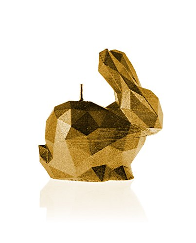 Candellana Candles 5902650678798 Bunny Candellana- Bunny Candle-Gold,Gold,Small by Candellana Candles