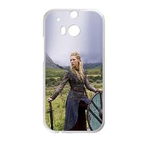 Vikings Ladgertha Lodbrok HTC One M8 Cell Phone Case White DIY Present pjz003_6513448
