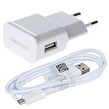 Original Color Blanco 2000 mAh (2 Amp) Samsung Micro USB 2 Pin Cargador de Red en Bulk del Paquete Adecuado para Samsung Galaxy Tab S2 9.7, Galaxy Tab S2 8.0