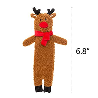 SCENEREAL-Christmas-Plush-Dog-Squeaky-Toy-No-Stuffing-3-Packs-Chew-Toys-Santa-Claus-Reindeer-Penguin-for-Holiday-Fun-Small-Dogs-Puppy