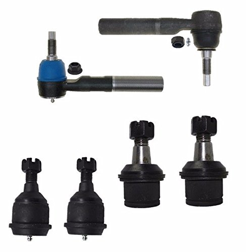 Parts 4wd Kit (PartsW 6 Piece Kit Inner Outer Tie Rod Ends Upper and Upper Lower Ball Joints 4WD Only)