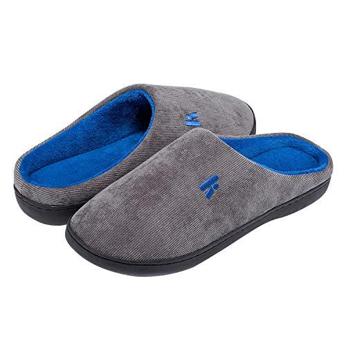 Casa Pantofole Donna Invernale blu Antiscivolo E Memory Foam Ciabatte Confortevole Da Uomo Grigio Per Madaleno qE7U6dd