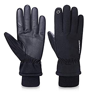 FengNiao Winter Gloves -20℉Cold Proof 3M Thinsulate Cotton Thermal Touchscreen Gloves Men Women Outdoor Waterproof Gloves for Driving Cycling Running Hiking Skiing