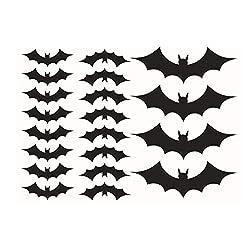 AckfulBlack 3D DIY PVC Bat Wall Sticker Decal Home Halloween Decoration 36pcs