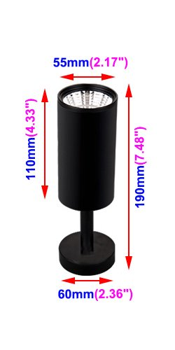 BRILLRAYDO 12W LED Ceiling Directional Spotlight Surfaced Light Focus Lighting Adjustable Picture Project Black Warm White by BRILLRAYDO (Image #2)