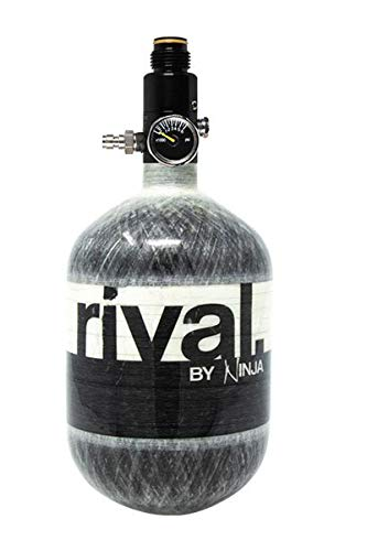 Ninja Rival Paintball Carbon Fiber 50ci 4500psi Compressed HPA Air Tank (Grey)