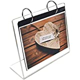 """leoyoubei Clear Acrylic Frames Photo Clip 13 Shows 26 Photos 5x7"""" Desktop Double Sided Display Holder""""L"""" Type with Vertical Stand and 4mm Thicker Menu Holders,Photography Studio/Album"""