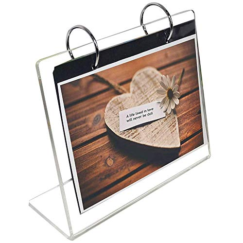 Leoyoubei Clear Acrylic Sided Frames Desktop Display Holder