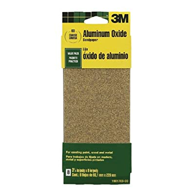 3M Imperial Wetordry Sandpaper, 400-Grit, 3.67-Inch by 9-Inch, 5-Pack