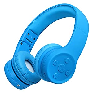Picun Kids Bluetooth Headphones Safe Volume Limited 85dB 15 Hours Play Time Foldable Stereo Sound Headsets with Mic…
