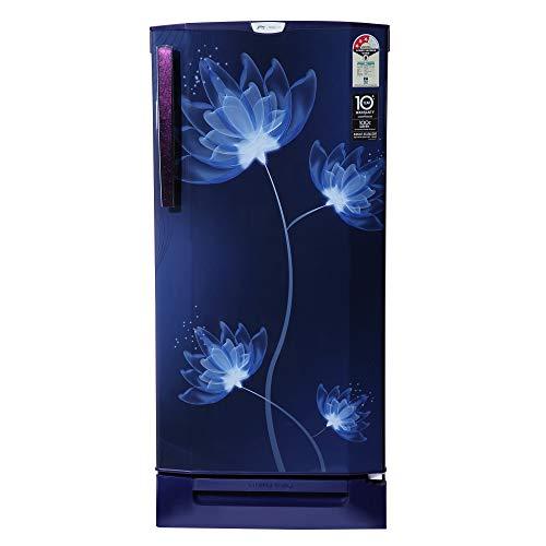 Godrej 190 L 3 Star Direct-Cool Single Door Refrigerator (RD 1903 PTD 33 GL BL, Glass Blue, Base stand with drawer…