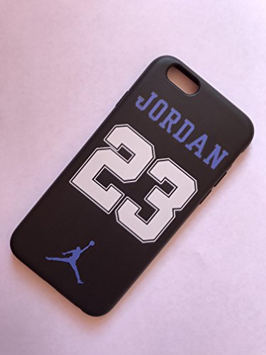 NEW AIR JORDAN LOGO JUMP SOFT PC CASE FOR APPLE IPHONE 5SE NO .23 BLUE BLACK