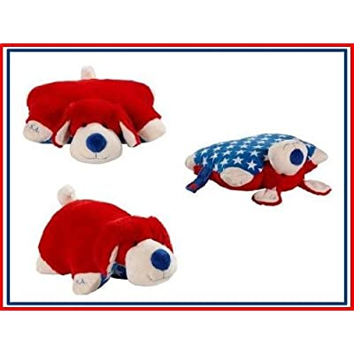 "My Pillow Pets Dog Patriotic Pup 18"" Large Pillow: Toys & Games"