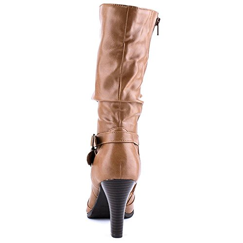 Style & Co. Mickay, Fashion Stiefel Frauen, Pumps rund Wheat