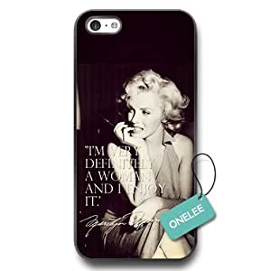 CSKFUPersonalized Classic Marilyn Monroe Quotes Soft Rubber (TPU) Phone Case for iphone 6 5.5 plus iphone 6 5.5 plus - Black